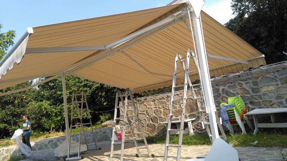 pusula tente açık alanlarda görsel çözümler
